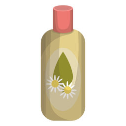 Bottle camomile illustration