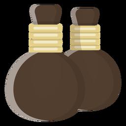 Ilustração de par de garrafas