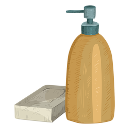 Bottle soap illustration