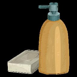 Ilustración de jabón de botella