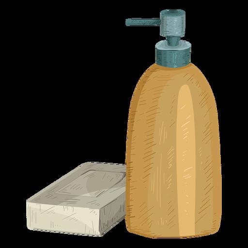 Bottle soap illustration Transparent PNG
