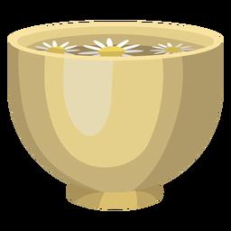 Ilustración de manzanilla de agua de cuenco