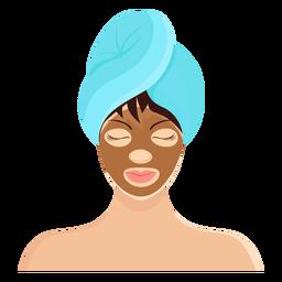 Máscara morena franja toalla ilustración