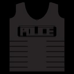 Bullet proof vest flak jacket silhouette