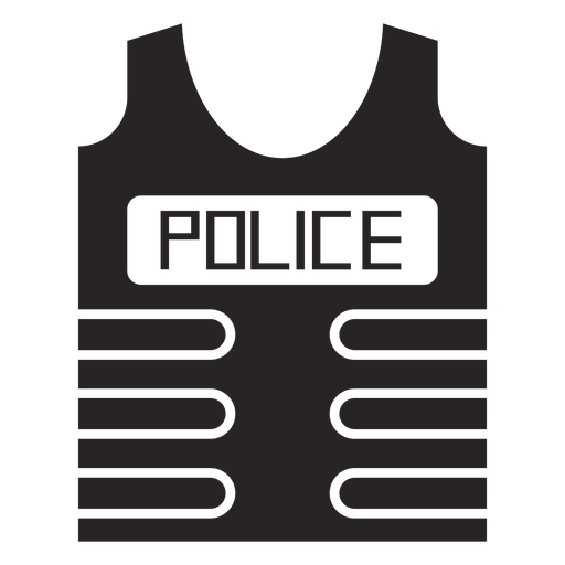 Bullet proof vest flak jacket silhouette Transparent PNG