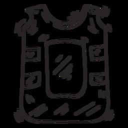 Boceto de chaleco antibalas chaleco antibalas