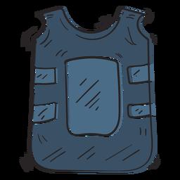 Ilustración de chaleco a prueba de balas