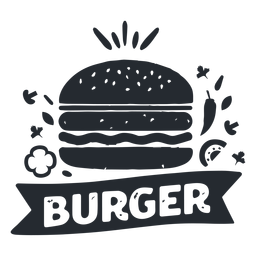 Burger food logo logotype silhouette