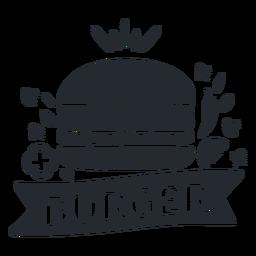Silhueta de logotipo de logotipo de comida de hambúrguer