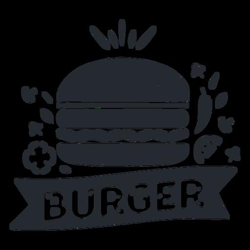 Silueta de logotipo de logotipo de comida de hamburguesa