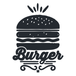 Burger Logo Food Logo Silhouette