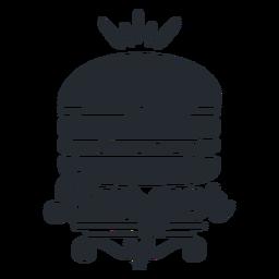 Logotipo de hambúrguer logotipo de comida silhueta