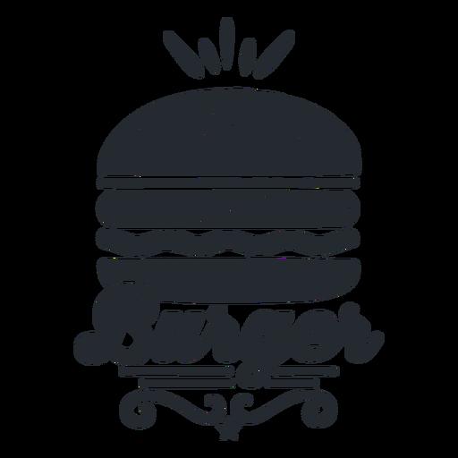Burger logo food logotype silhouette