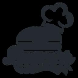 Logotipo do logotipo de hambúrguer