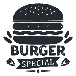 Burger logo logotipo silueta