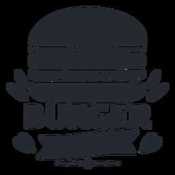 Logotipo de Burger logotipo silueta