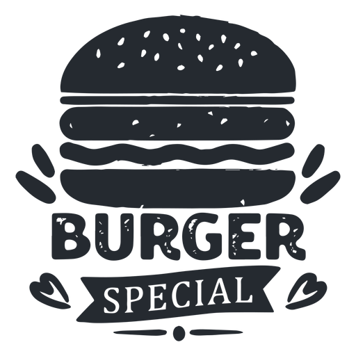 Burger logo logotipo silueta Transparent PNG