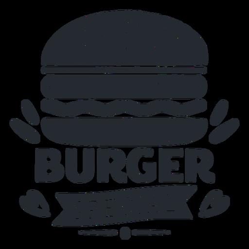 Burger logo logotype silhouette Transparent PNG