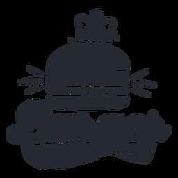 Silueta de logo de hamburguesa