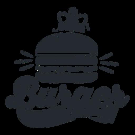 Burger Logo Silhouette Transparent PNG
