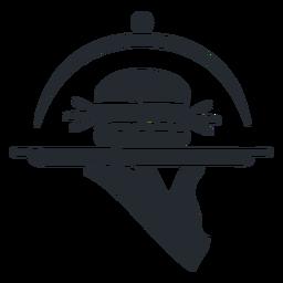 Silhueta de hambúrguer