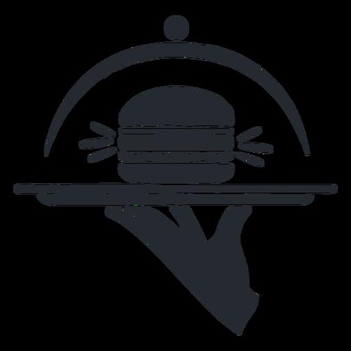 Silhueta de hambúrguer Transparent PNG