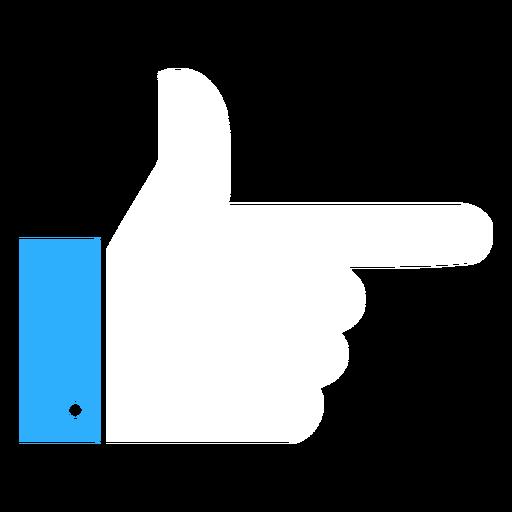 Botão de punho plana Transparent PNG