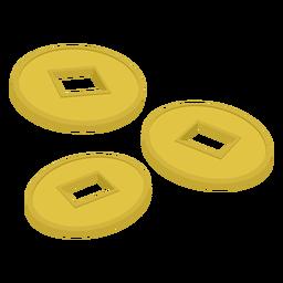 Botão, três, ilustração