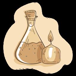 Ilustração de balão de vela