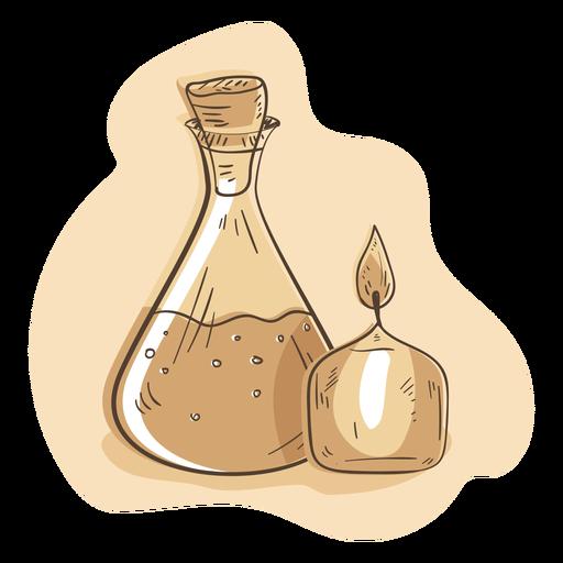 Candle flask illustration Transparent PNG