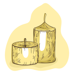 Candle illustration wax