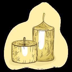 Ilustración de vela cera