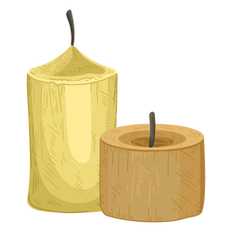 Candle pair illustration