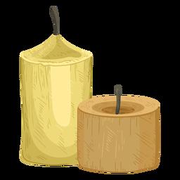 Ilustración de par de velas