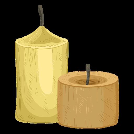 Candle pair illustration Transparent PNG