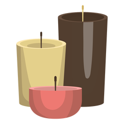 Candle wax illustration