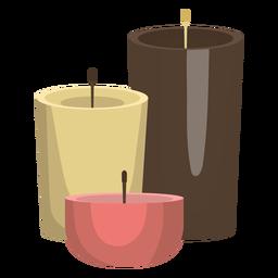 Ilustração de cera de vela