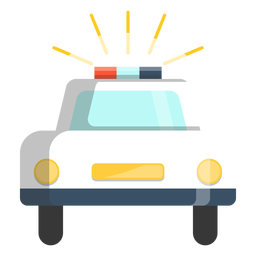 Ilustração de carro pisca-pisca