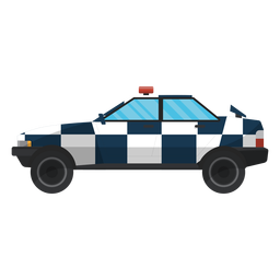 Car law police illustration