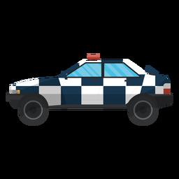 Ley de coche policía ilustración