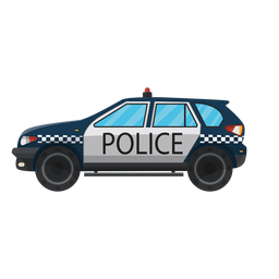 Car police bumper illustration