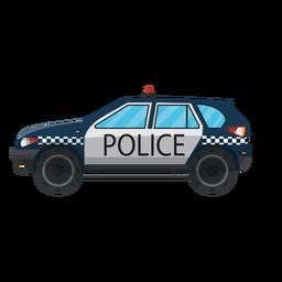 Ilustración de parachoques de policía de coche