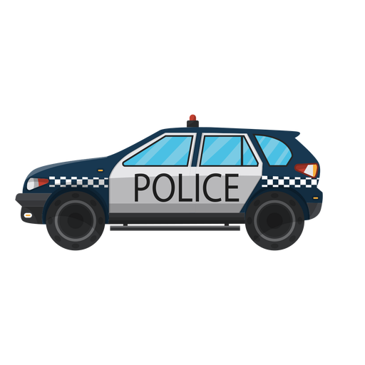 Car police bumper illustration Transparent PNG