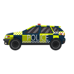Car police checked illustration