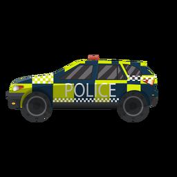 Policía de coche comprobado ilustración