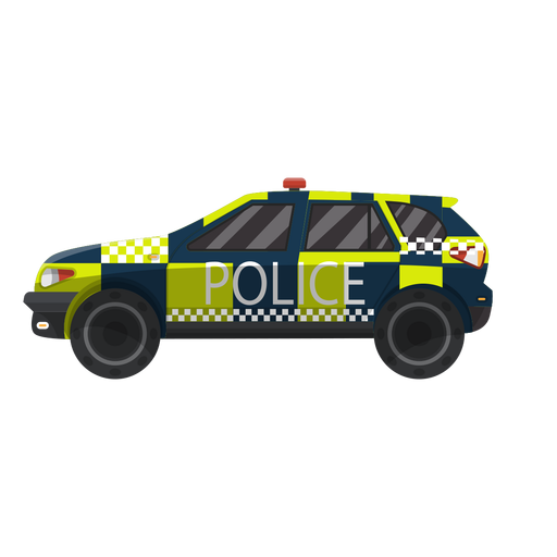 Car police checked illustration Transparent PNG