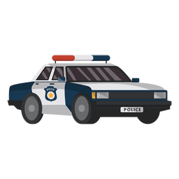 Car police emblem illustration