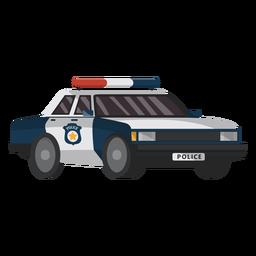 Ilustración de coche policía emblema