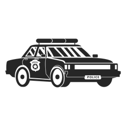 Auto Polizei Emblem Silhouette