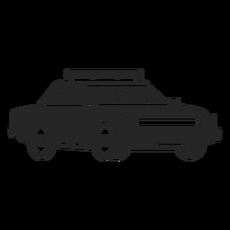 Silhueta de emblema de polícia de carro